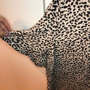 H&M Tops - Trumpet Sleeve Leopard Print Top